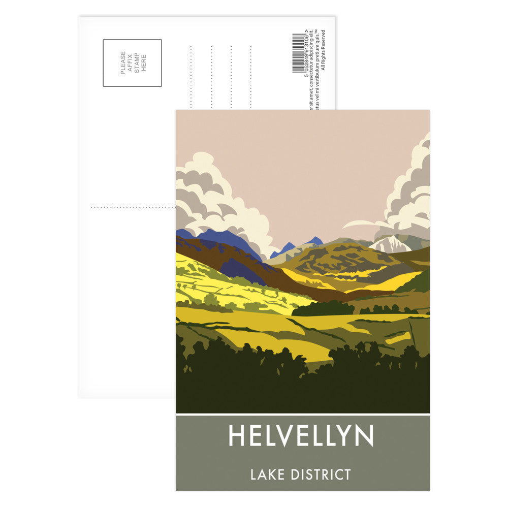 Helvellyn, Lake District, Cumbria Postcard Pack