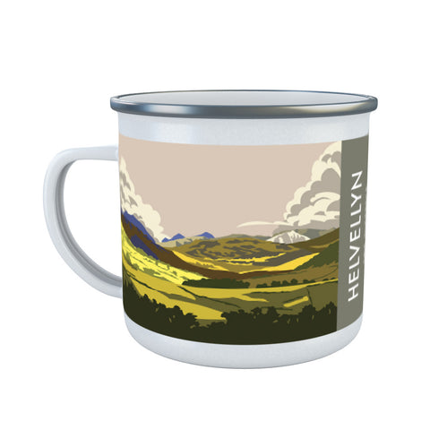 Helvellyn, Lake District, Cumbria Enamel Mug