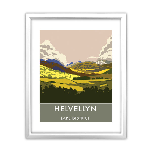 Helvellyn, Lake District, Cumbria 11x14 Framed Print (White)