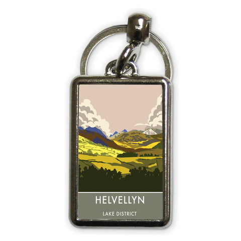 Helvellyn, Lake District, Cumbria Metal Keyring