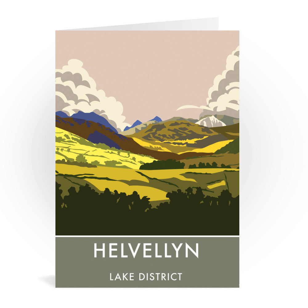 Helvellyn, Lake District, Cumbria - Greeting Card 4x4