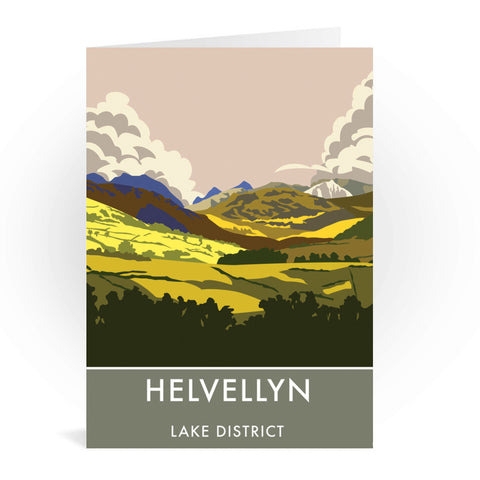 Helvellyn, Lake District, Cumbria Greeting Card 7x5