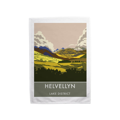 Helvellyn, Lake District, Cumbria Tea Towel