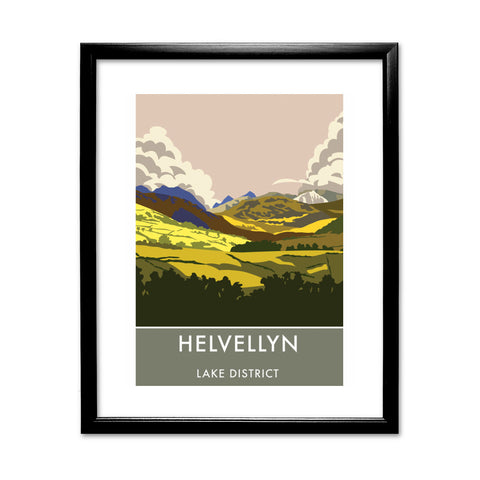 Helvellyn, Lake District, Cumbria 11x14 Framed Print (Black)