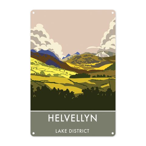 Helvellyn, Lake District, Cumbria Metal Sign