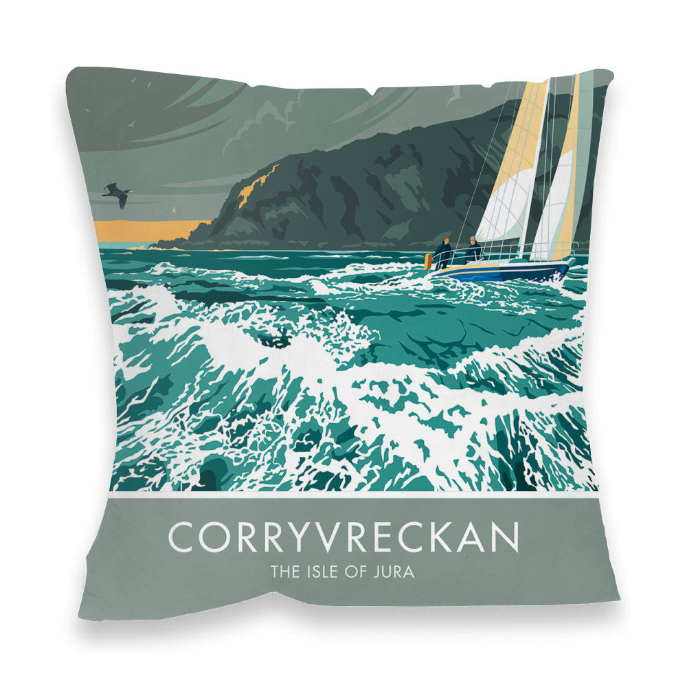 Corryvreckan, The Isle of Jura, Scotland Fibre Filled Cushion
