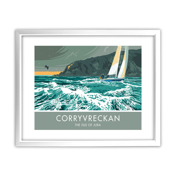 Corryvreckan, The Isle of Jura, Scotland 11x14 Framed Print (White)
