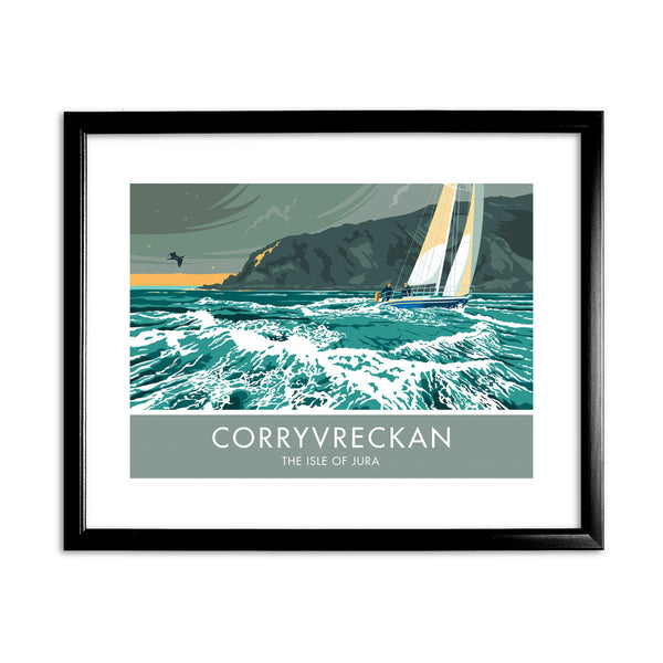 Corryvreckan, The Isle of Jura, Scotland 11x14 Framed Print (Black)