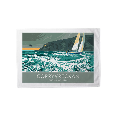 Corryvreckan, The Isle of Jura, Scotland Tea Towel
