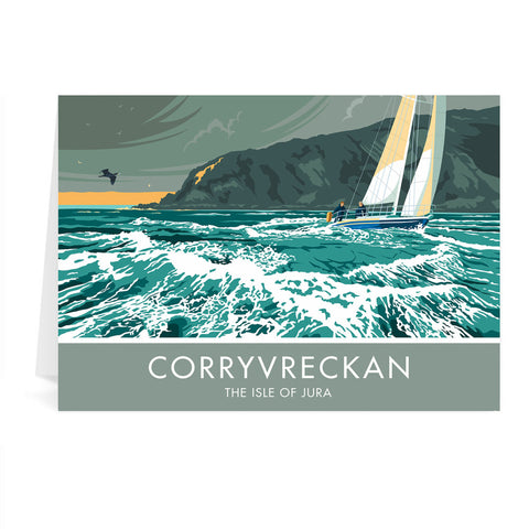 Corryvreckan, The Isle of Jura, Scotland Greeting Card 7x5
