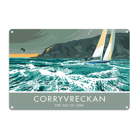 Corryvreckan, The Isle of Jura, Scotland Metal Sign