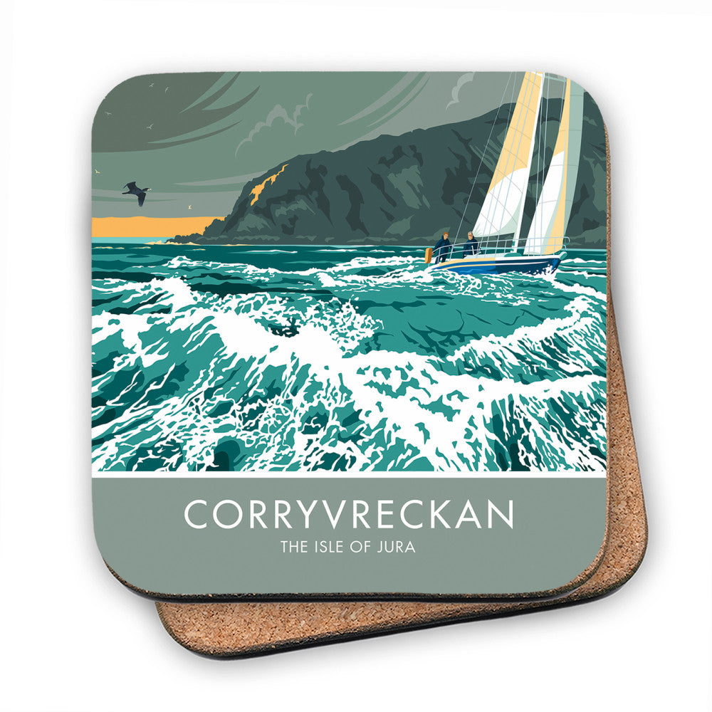 Corryvreckan, The Isle of Jura, Scotland MDF Coaster