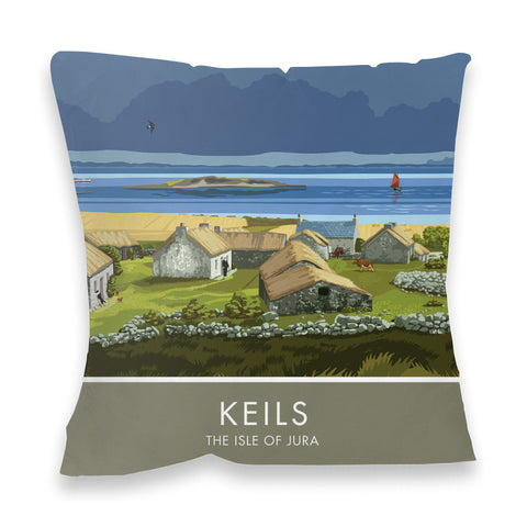 Craighouse, The Isle of Jura, Scotland Fibre Filled Cushion