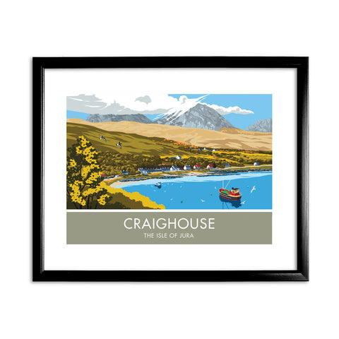 Craighouse, The Isle of Jura, Scotland 11x14 Framed Print (Black)