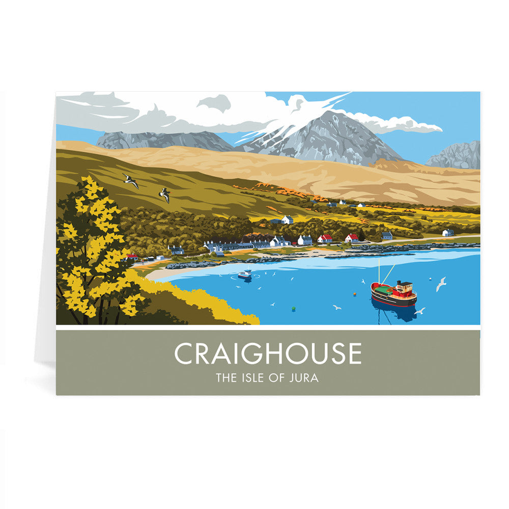 Craighouse, The Isle of Jura, Scotland Greeting Card 7x5