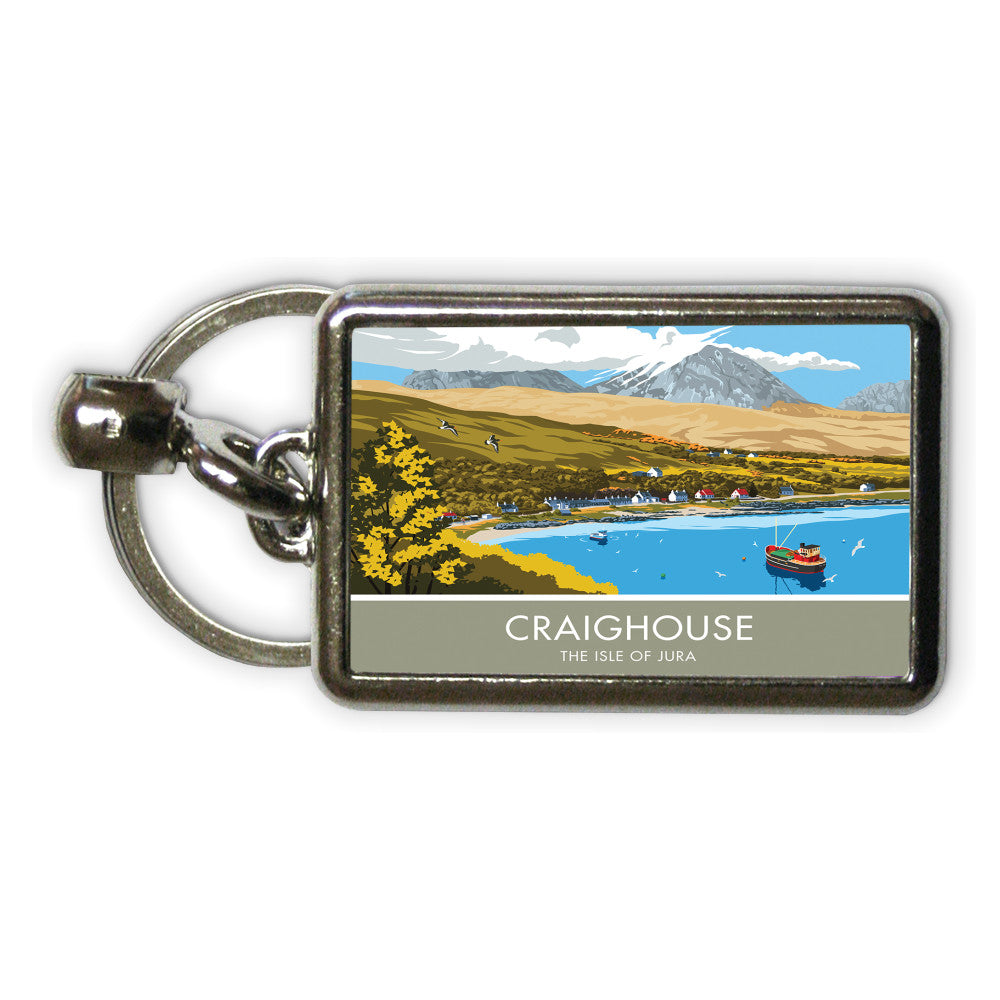 Craighouse, The Isle of Jura, Scotland Metal Keyring