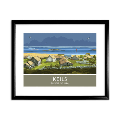 Keils, The Isle of Jura, Scotland 11x14 Framed Print (Black)