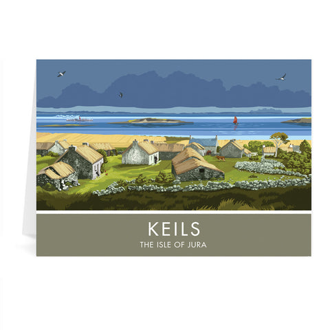 Keils, The Isle of Jura, Scotland Greeting Card 7x5