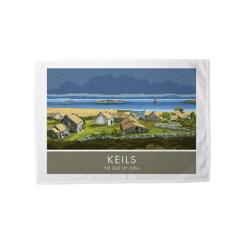 Keils, The Isle of Jura, Scotland Tea Towel