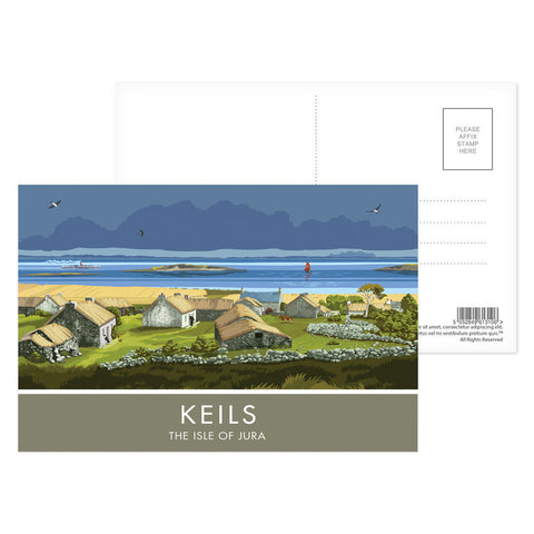 Keils, The Isle of Jura, Scotland Postcard Pack