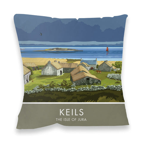 Keils, The Isle of Jura, Scotland Fibre Filled Cushion