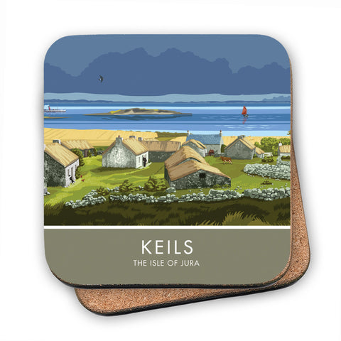 Keils, The Isle of Jura, Scotland MDF Coaster