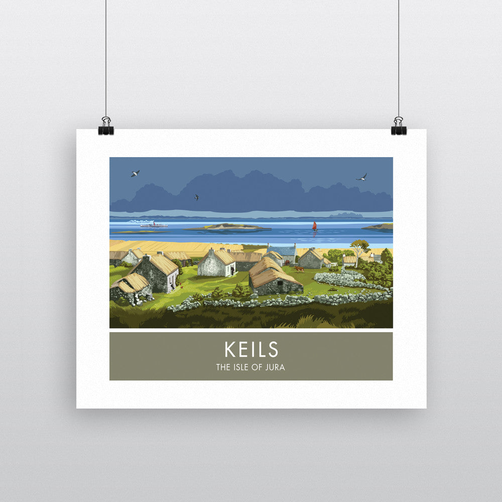 Keils, The Isle of Jura, Scotland 90x120cm Fine Art Print