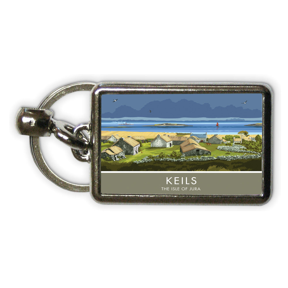 Keils, The Isle of Jura, Scotland Metal Keyring