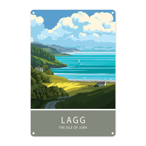 Lagg, The Isle of Jura, Scotland Metal Sign