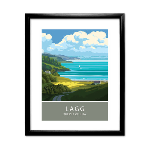Lagg, The Isle of Jura, Scotland 11x14 Framed Print (Black)