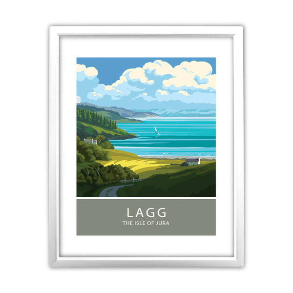 Lagg, The Isle of Jura, Scotland 11x14 Framed Print (White)