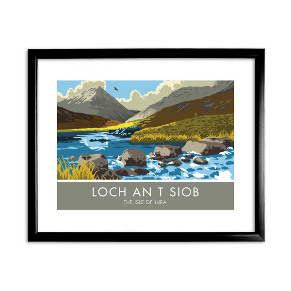 Loch An T Siob, The Isle of Jura, Scotland 11x14 Framed Print (Black)
