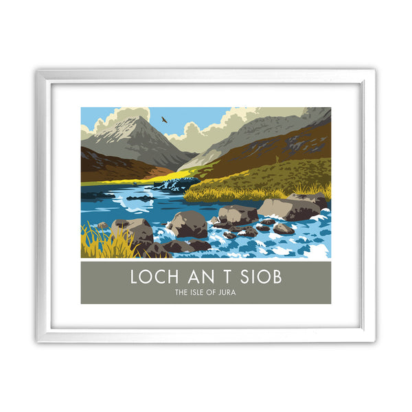Loch An T Siob, The Isle of Jura, Scotland 11x14 Framed Print (White)