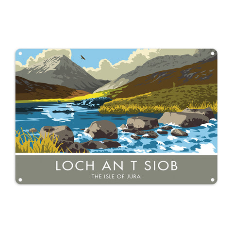 Loch An T Siob, The Isle of Jura, Scotland Metal Sign