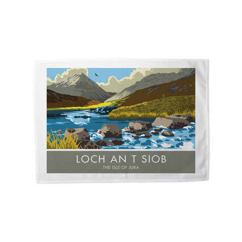 Loch An T Siob, The Isle of Jura, Scotland Tea Towel