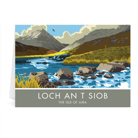 Loch An T Siob, The Isle of Jura, Scotland Greeting Card 7x5