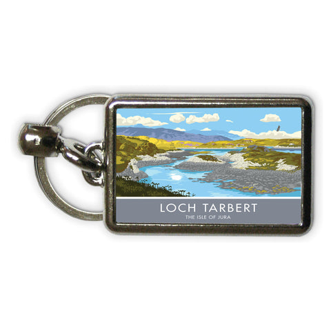 Loch Tarbert, The Isle of Jura, Scotland Metal Keyring