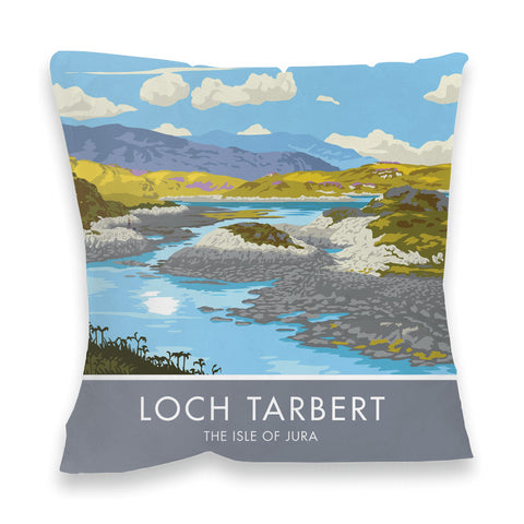 Loch Tarbert, The Isle of Jura, Scotland Fibre Filled Cushion