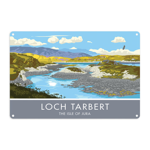 Loch Tarbert, The Isle of Jura, Scotland Metal Sign