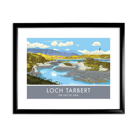 Loch Tarbert, The Isle of Jura, Scotland 11x14 Framed Print (Black)