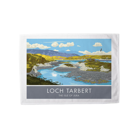 Loch Tarbert, The Isle of Jura, Scotland Tea Towel