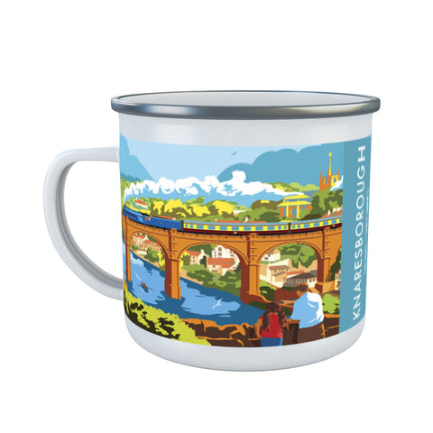 Knaresborough, North Yorkshire Enamel Mug