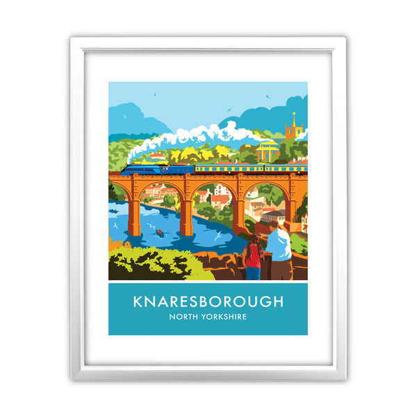 Knaresborough, North Yorkshire 11x14 Framed Print (White)
