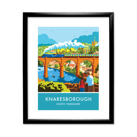Knaresborough, North Yorkshire 11x14 Framed Print (Black)