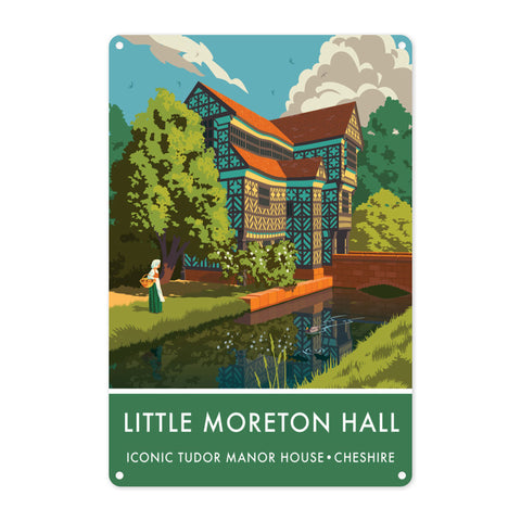 Little Moreton Hall, Cheshire Metal Sign