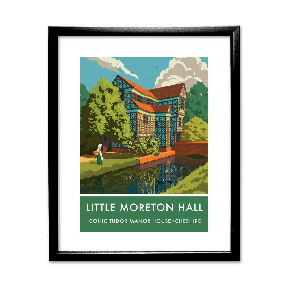 Little Moreton Hall, Cheshire 11x14 Framed Print (Black)