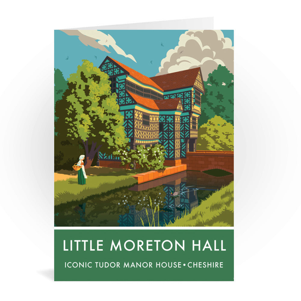 Little Moreton Hall, Cheshire Greeting Card 7x5