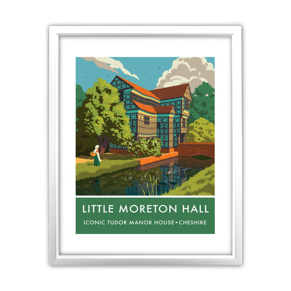 Little Moreton Hall, Cheshire 11x14 Framed Print (White)