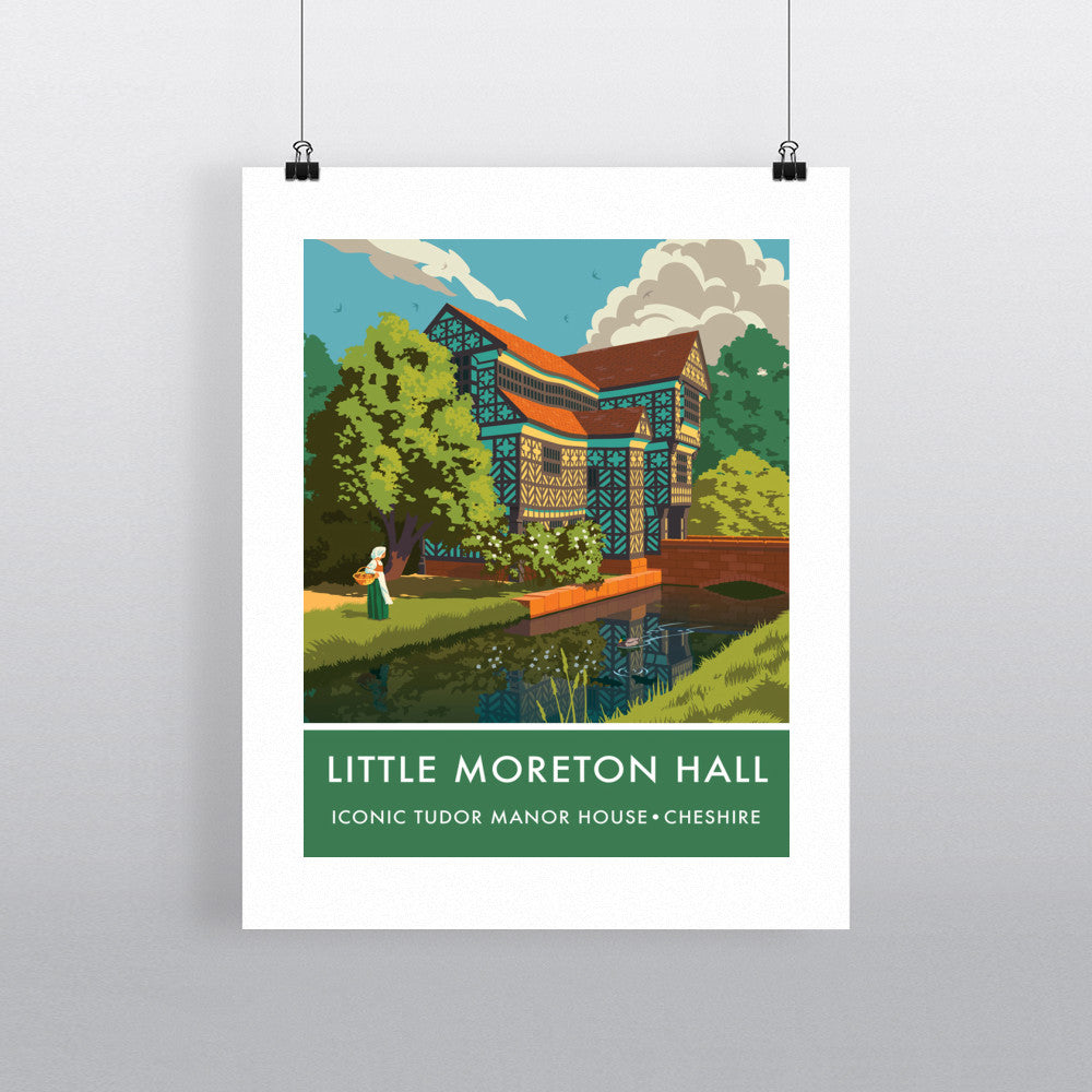 Little Moreton Hall, Cheshire 90x120cm Fine Art Print