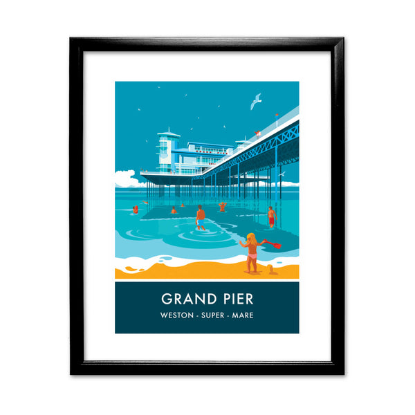 Grand Pier, Weston Super Mare, Somerset 11x14 Framed Print (Black)